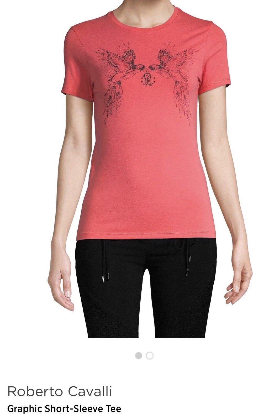 Roberto Cavalli daMänner's Perrot Kurz Sleeve T-Hemd Sz XS Farbe Coral