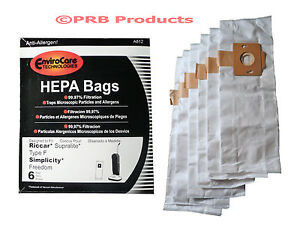 HEPA Type F Bag for Riccar Supralite/Simplicity Freedom Upright Vacuum Cleaner
