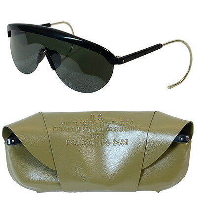 Original US Army 1970s SUNGLASSES with OLIVE CASE Genuine Unissued Vietnam Era