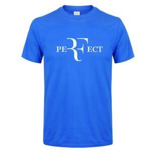 37fe8c8b3439 Roger Federer Men RF Tennis T-Shirts Cotton O Neck Short Sleeves ...