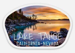Lake Tahoe STICKER - California Nevada Lakes Skiing Boating Beautiful Scenery