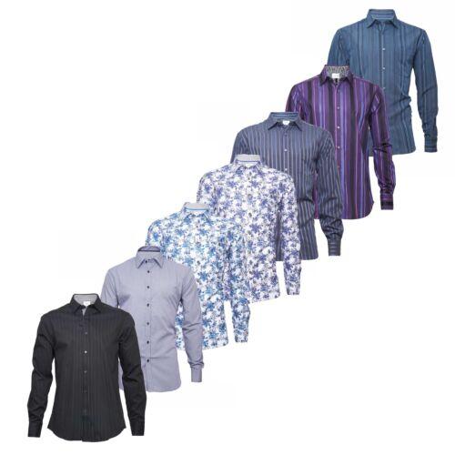 Fa M ou S Store Uomo a Maniche Lunghe Lusso Camicia Taglia S M L XL XXL RRP £ 29-39.50
