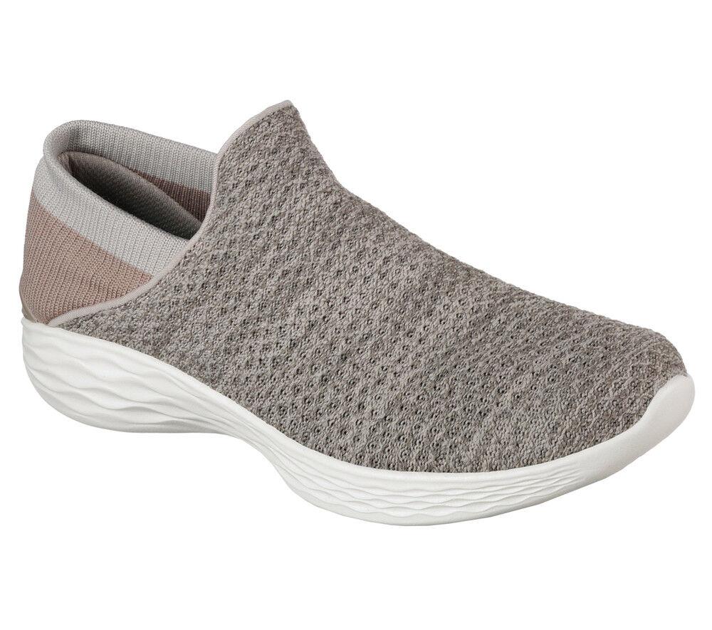 NEU SKECHERS Damen Grau Sneakers Freizeitschuhe Sommerschuhe Slipper YOU Grau Damen - Beige e28885