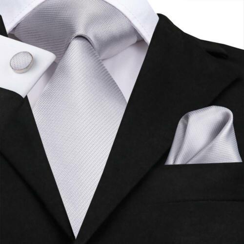 Blue Burgundy Red Yellow Solid Striped Mens Tie Set Silk Necktie Wedding Party