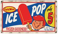 Gold Mine Ice Pop Nostalgic Advertisement Sign