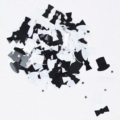 EuroWrap BLACK & WHITE TOP HAT & TAILS Star 14 Gram Party Sprinkles