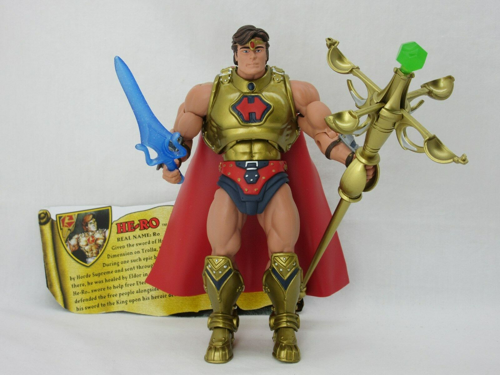 MOTUC,MOTU,HE-RO,Masters Of The Universe Classics,100% Complete,He man