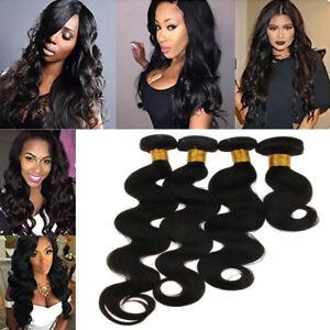 8A-1-Bundle-Curly-Brazilian-Remy-Hair-Weave-Extension-Natural-Black-Color