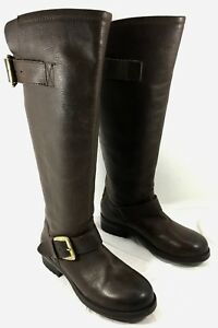 77a7b64a12f NEW Steve Madden Lindley Knee High Boots Brown leather Red Zipper Sz ...