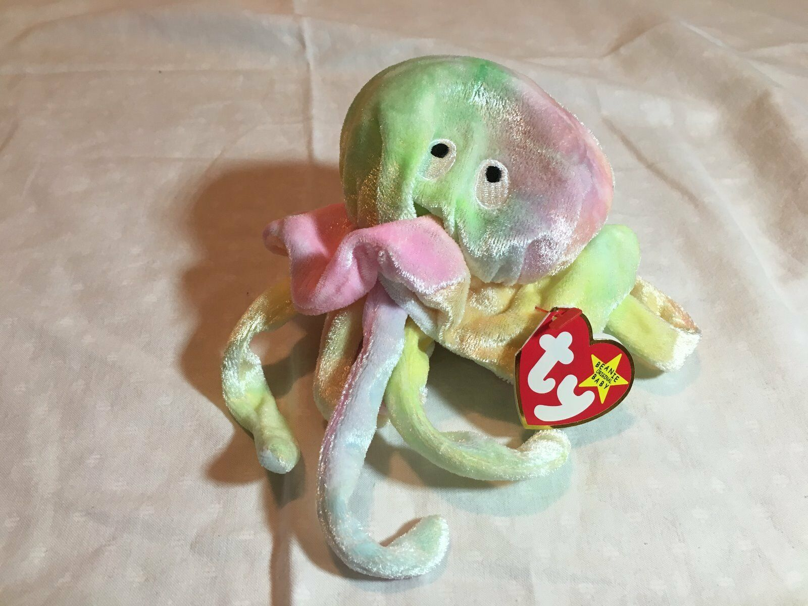 NWT Retired 1998 Ty Goochy Tie Dye Beanie Baby DOB  November 18, 1998