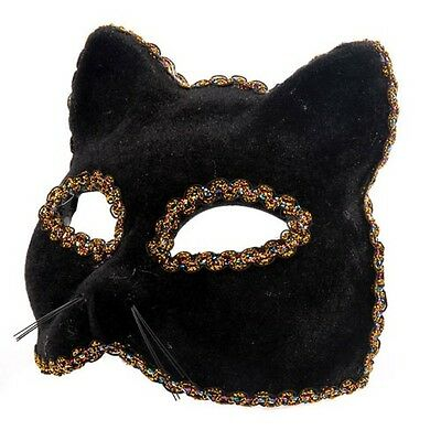 Black Panther Venetian Masquerade Mask Cat Halloween eyemask Feline Fancy Dress