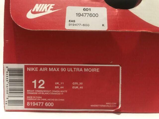 Size 12 - Nike Air Max 90 Ultra Moire Bright Crimson 2016 for sale ...