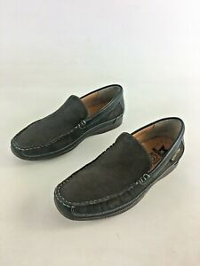 Mephisto-Womens-Brown-Leather-Solid-Slip-On-Moc-Toe-Loafers-US-Sz-8