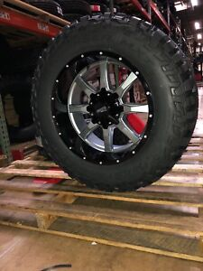 Jeep Mud Tires >> Details About 20 20x10 Moto Metal Mo970 Gray Wheels 35 Mud Tires 5x5 Jeep Wrangler Jk Jl