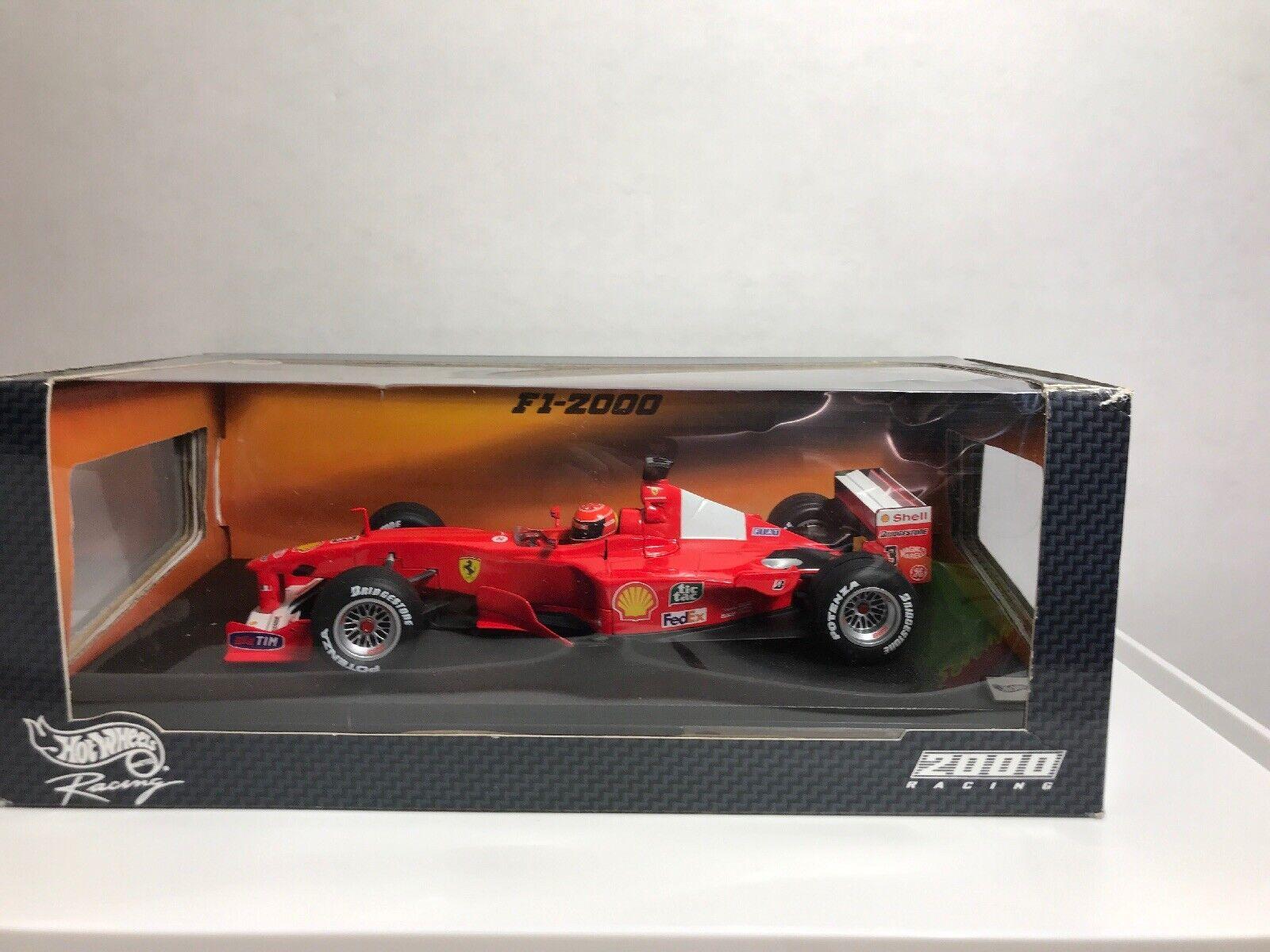 Hot Wheels Formel1 Ferrari Michael Schumacher #3 WORLD CHAMPIONS 2000 1:18 *OVP*