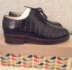 negro euros de Agatha zapatos cuero Clarks tamaño Orla Mock 5 5 de 39 Kiely Croc 4wq6HBSy8f