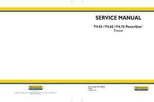 Details about NEW HOLLAND T4 55 T4 65 T4 75 TRACTOR SERVICE MANUAL