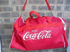 Vintage retro red & white COCA COLA holdall weekend bag sports gym bag