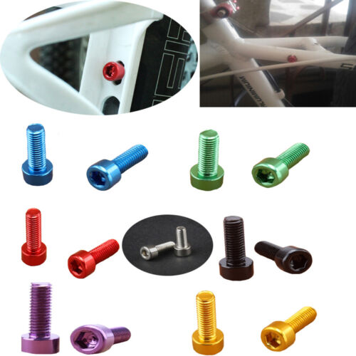 4 PCS Bicycle Water Bottle Holder Cage Holder Alloy Screws Fixed Gear Screws A+