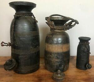 NEPALESE/TIBETAN RUSTIC POTS