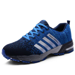 Men-039-s-Fashion-Leisure-Lace-Up-Running-Breathable-Shoes-Sports-Athletic-Sneakers