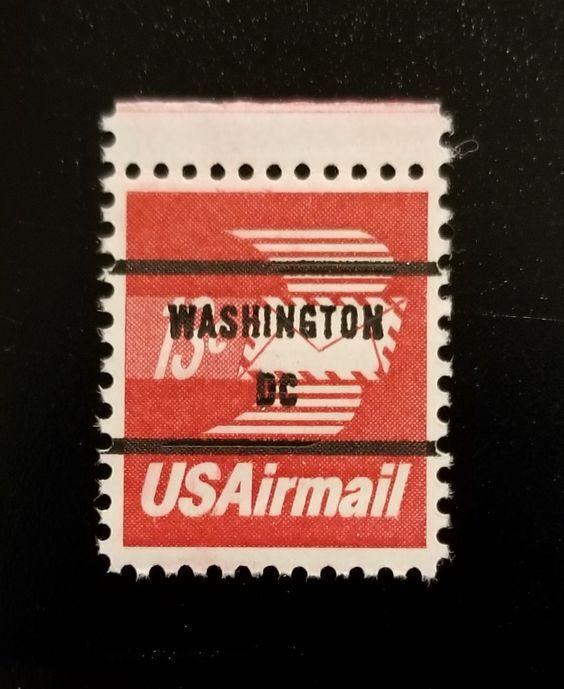 1973 13c Winged Envelope, Airmail, Washington DC Scott