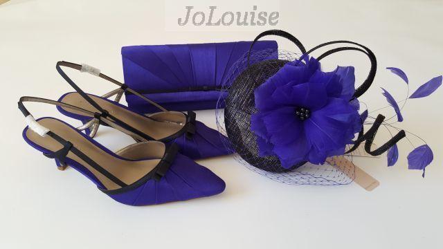 Jacques Grün schuhe Bag Fascinator Größe 6  39 Blau Wedding Mother Of The bride
