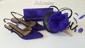 6 sposa Fascinator coordinato 39 Vert da ~ Size Bag Shoes Set ~ Jacques blu xqRwY41w