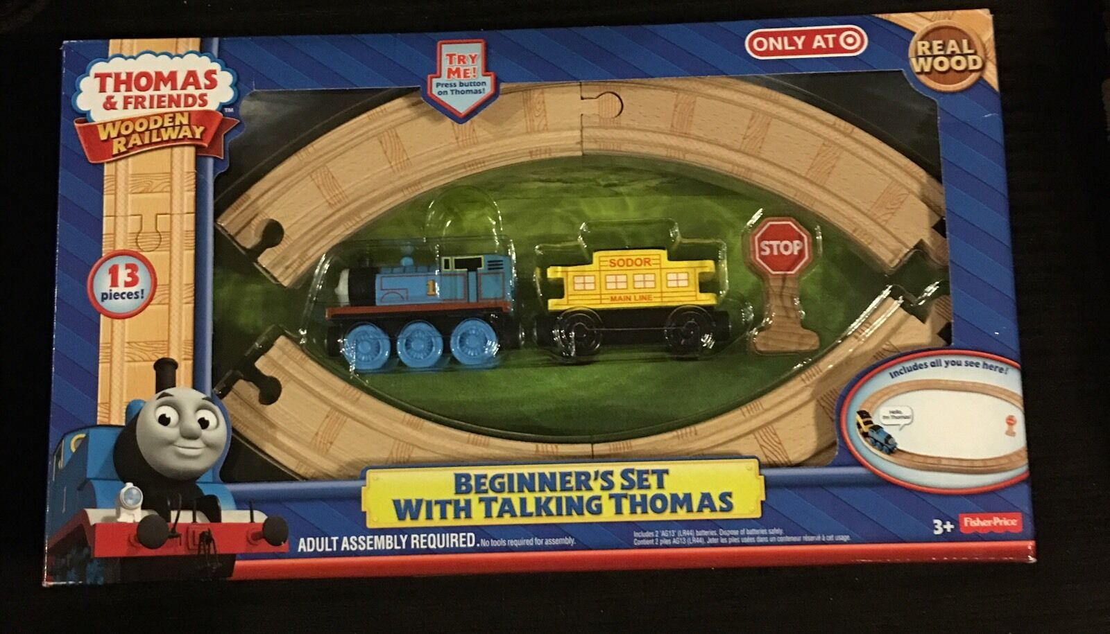 Thomas and Friends Wooden Railway Beginners Set With Talking Thomas