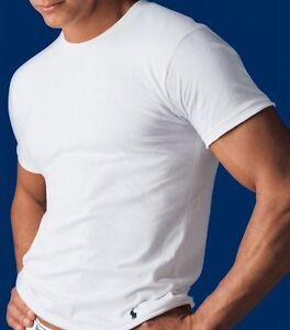 Polo Ralph Lauren Classic Crew Neck T-Shirts 3 Pcs Basic Tee Undershirt - NEW