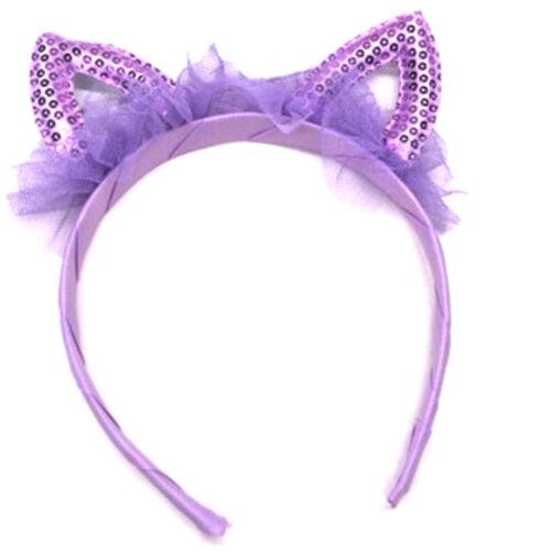 Baby princess cat ears tiara hairband hair head hoop band for kids headwear DS