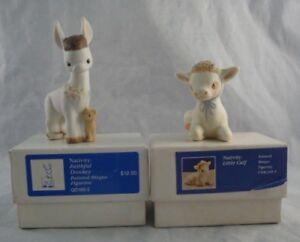 1981-Hallmark-Mary-Hamilton-Nativity-Collection-Faithful-Donkey-amp-Little-Calf