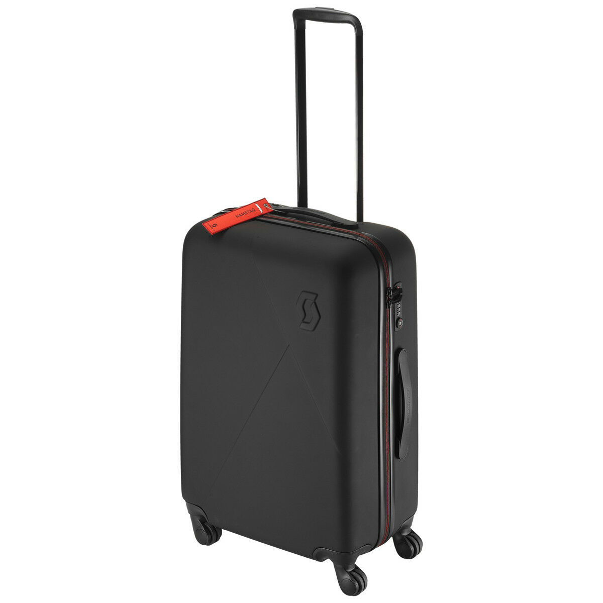 Scott Travel Custodia robusta 70 VALIGIA RIGIDATROLLEY nerorosso