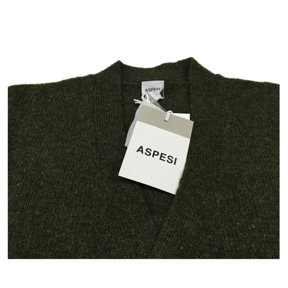 ASPESI bottoni cardigan   con tasche bottoni ASPESI in pelle 100% lana M188 Made IN ITALY 8e7df9