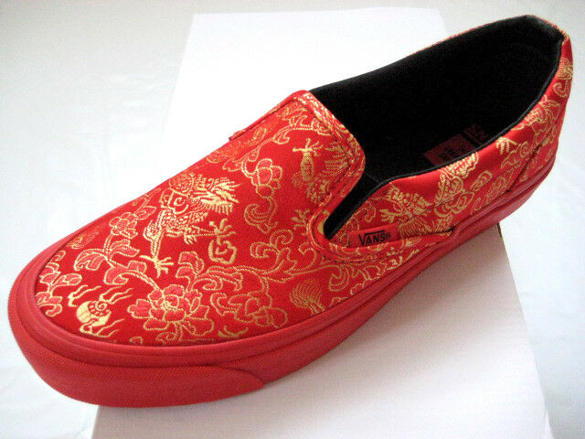 Opening Ceremony x Vans Vault Slip-On LX Qi Pao Pack rosso 5.5-11