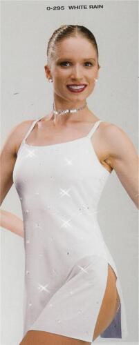 lyrical dance costume white artstone ballet pageant dress white rain 295