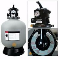 24 Sand Filter System W 7 Ways Valve In-ground Swimming Pool Filter