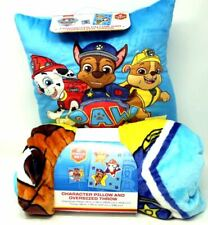 Paw patrol  Character Pillow And Oversized Throw Blanket 2 pc set Nickelodeon