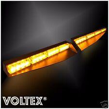NEW VOLTEX® AMBER VISOR SPLIT DECK 1W DASH LED LIGHTBAR STROBE LIGHT BAR KIT