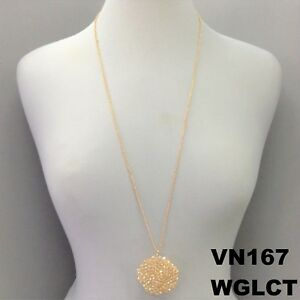 Light-Topaz-Beads-Round-Wired-Pendant-Long-Dainty-Statement-Necklace-VN167-WGLCT