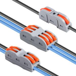 SPL-1-2-3-Electrical-Connectors-Wire-Block-Clamp-Terminal-Lever-Nut-Lots-20Pcs