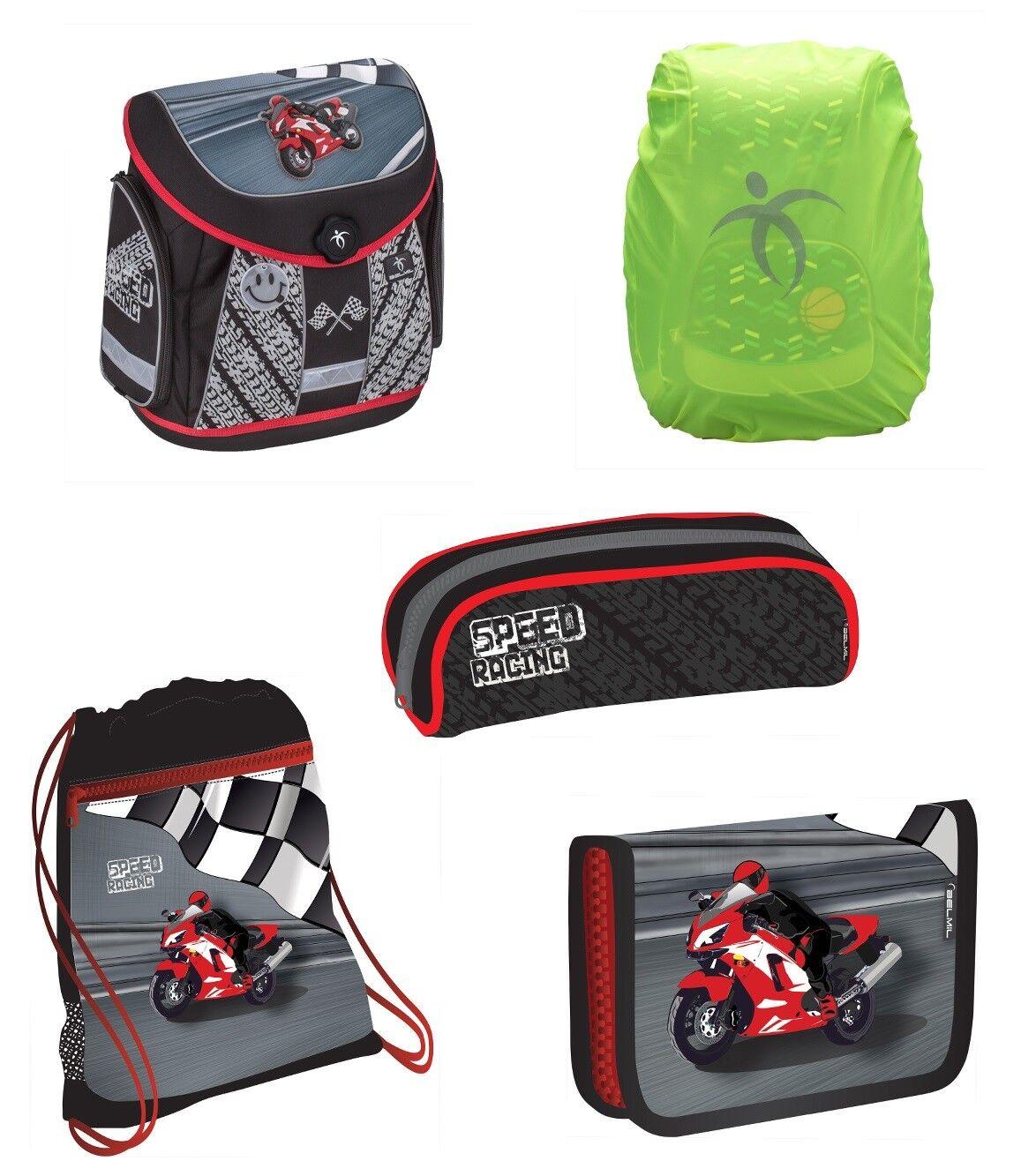 Exclusiv5tlg.Motor Schulranzen Set passend für Kinder zwischen 6-9 Jahre EDEL | Beliebte Empfehlung  | Großhandel  | Ausgezeichneter Wert