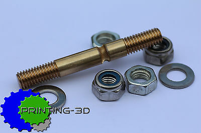 Hobbed Bolt Wades Extruder, M8 including washers and nuts, 3D Printer,