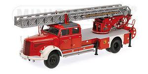 1-18-Minichamps-MERCEDES-BENZ-L6600-AERIAL-LADDER-DL30-Escalera-de-incendio