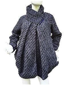 manteau femme veste laine hiver chaud ample grande taille. Black Bedroom Furniture Sets. Home Design Ideas