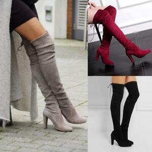 WOMENS-LADIES-THIGH-HIGH-BOOTS-OVER-THE-KNEE-PARTY-STRETCH-BLOCK-MID-HEEL-UK
