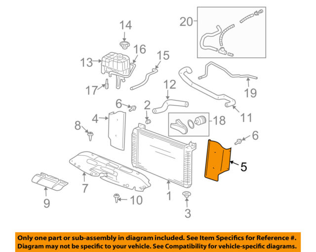 Genuine GM Radiator Lower Insulator 15982543