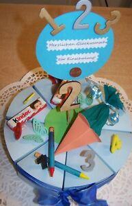 Details Zu Geldgeschenk Zur Einschulung Geschenk Junge 1 Schultag Große Torte Neu