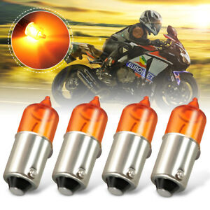 4x-Motorcycle-Motorbike-Mini-Indicator-Bulbs-12V-23W-Halogen-BA9S-Base-Amber