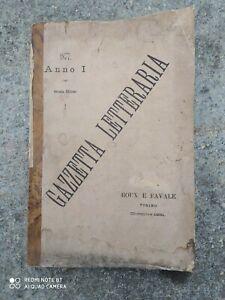 Gazzetta Letteraria 1877 seconda edizione del 1881 Roux e Favale Torino